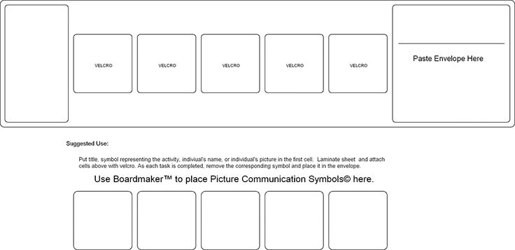visual schedule template